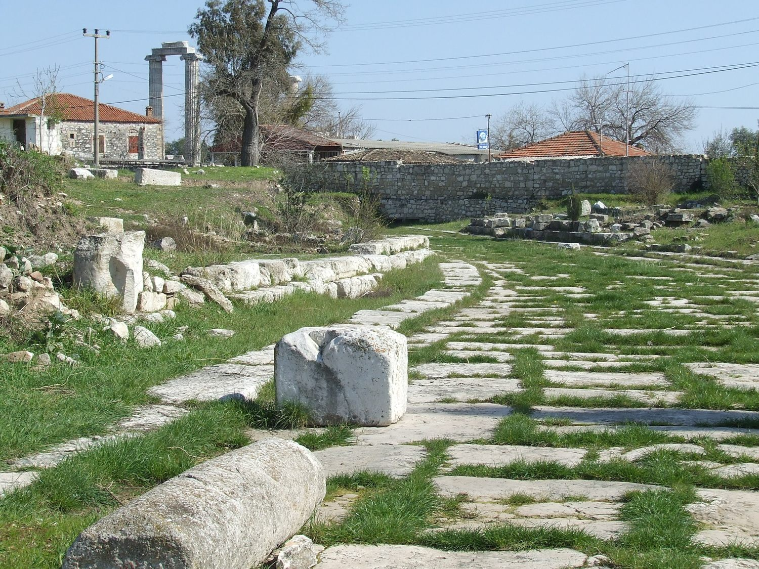 The East turn of the road leading to the Temple of Apollo