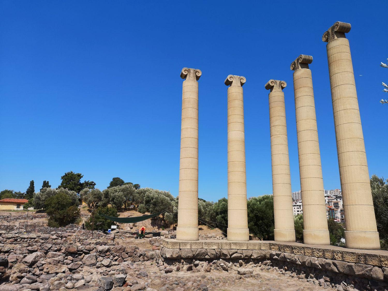 Reconstructed Temple of Athena, Bayraklı Höyüğü, Izmir