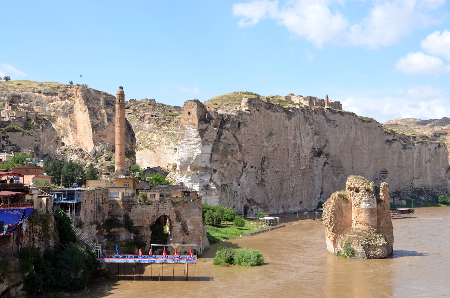Ancient settlement of Hasankeyf, soon to disappear underwater