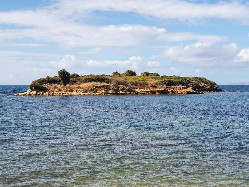East side of the Rabbit Island in Didim