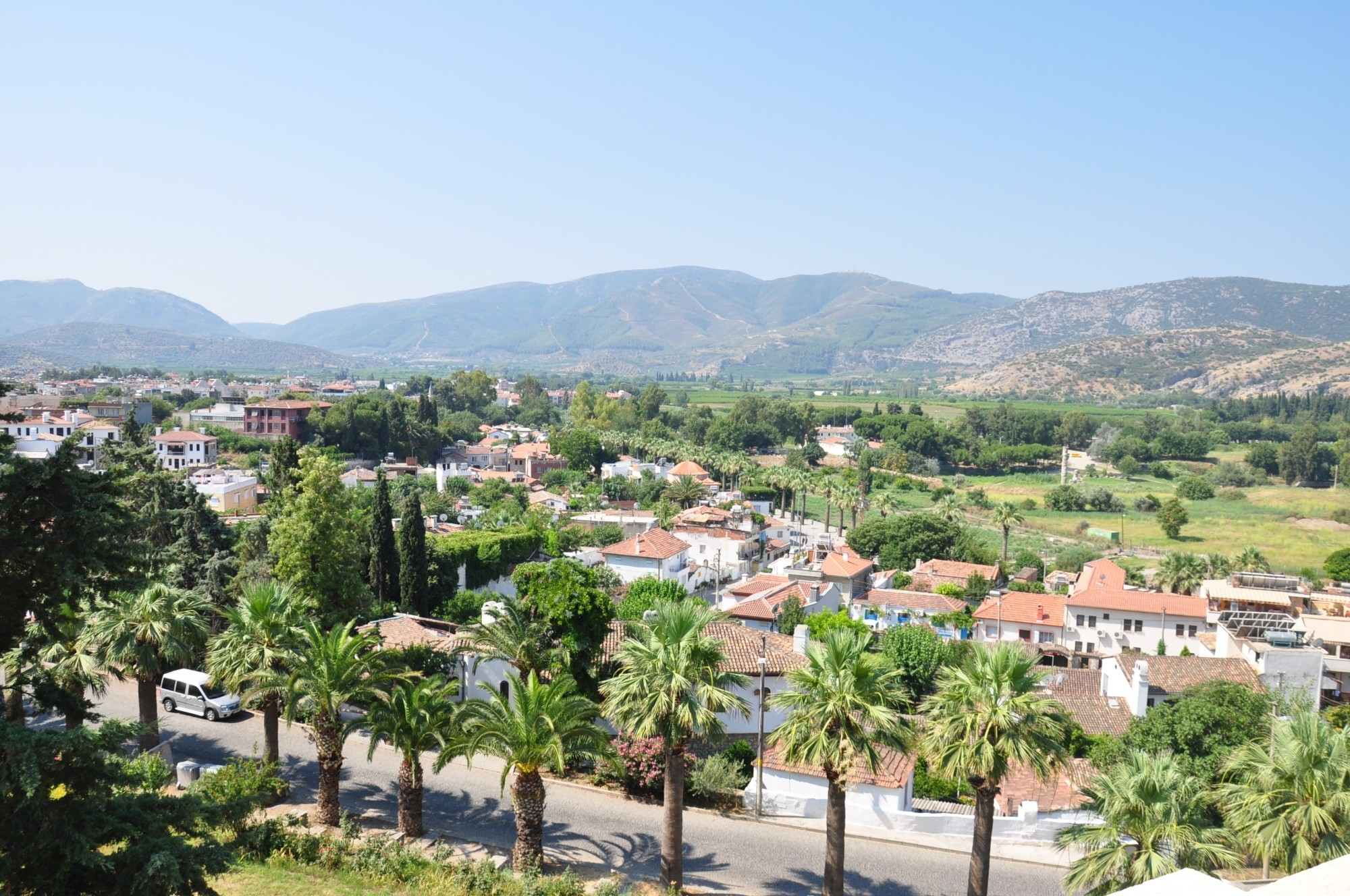 Selçuk seen from the Ayasuluk Fortress