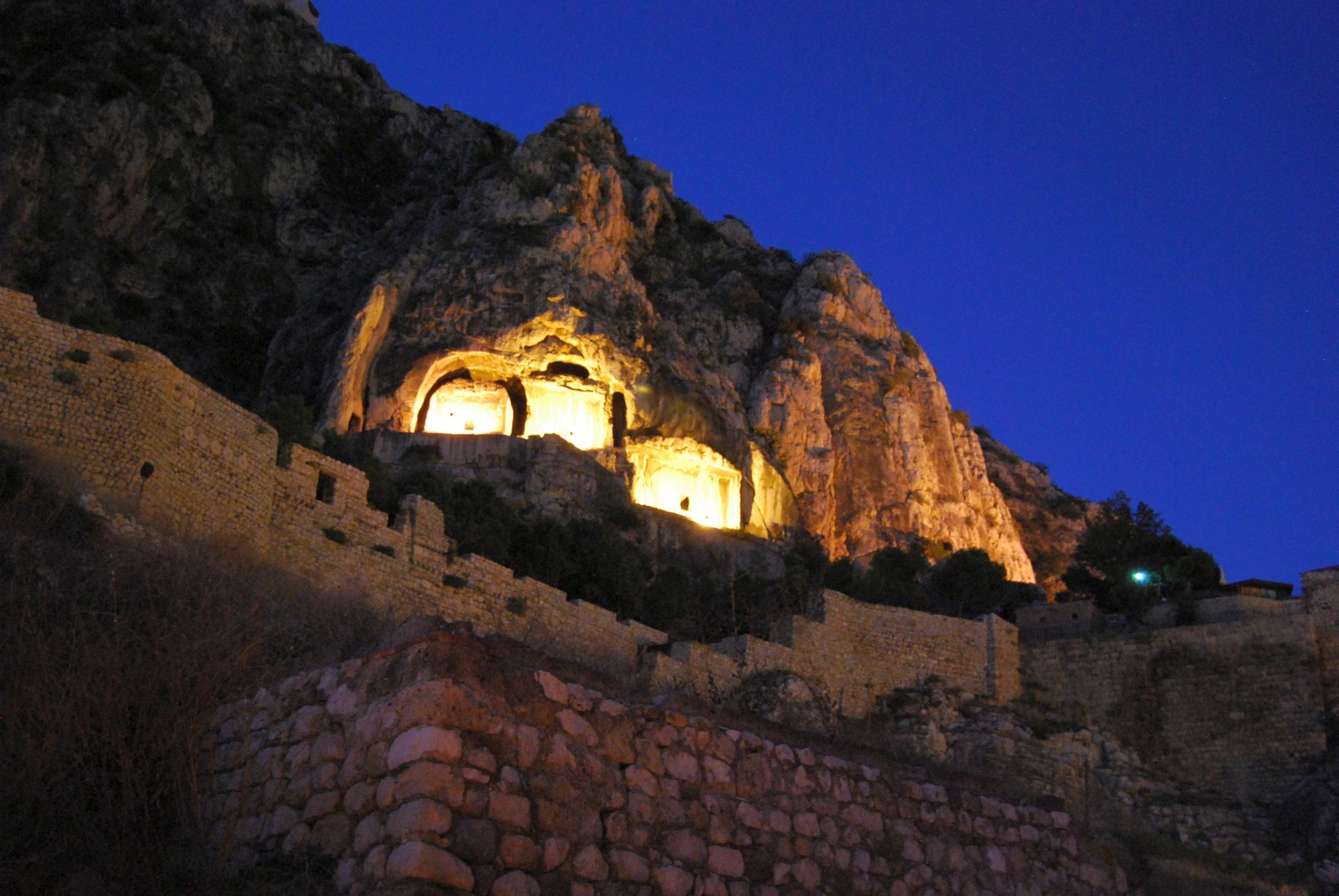 The rock-tombs of the Pontic Kings in Amasya