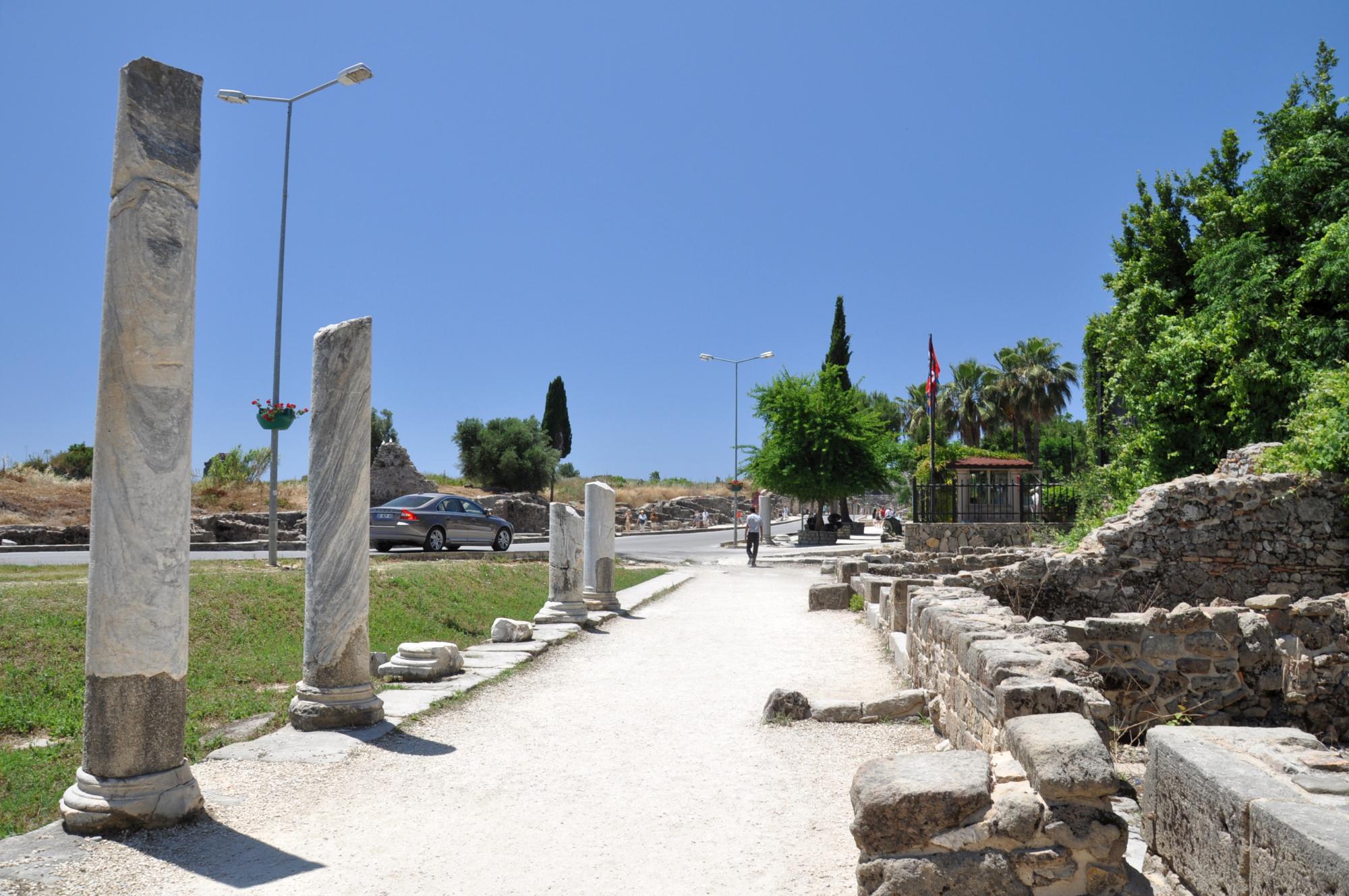 Colonnaded street in Side