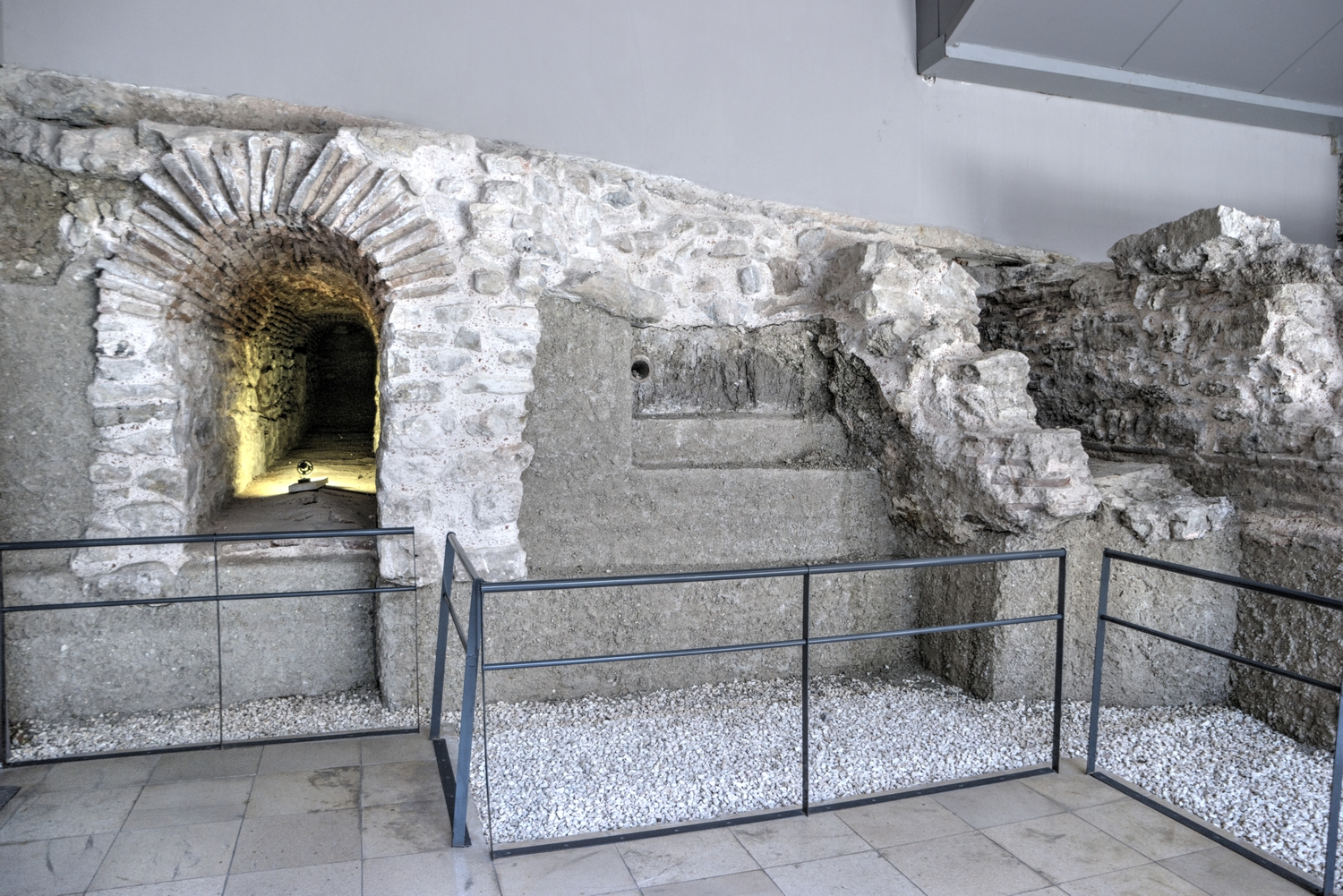 The underground remains of the Hippodrome of Constantinople