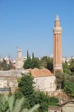 Yivli Minaret Mosque and Kaleiçi district in Antalya