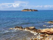 Rabbit Island and mainland shore