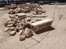 Archaeological excavations in the Temple of Apollo in Didim, 2019