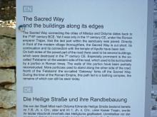 Sacred Road - information board