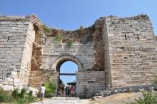 The gate leading into St. John Basilica
