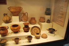 Eartheware pottery from different periods - Archaeological and Ethnographic Museum in Edirne