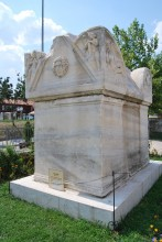 Sarcophagus in the garden of Archaeological and Ethnographic Museum in Edirne