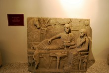 Grave stele from Enez, Roman period - Archaeological and Ethnographic Museum in Edirne