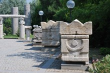 Sarcophagi in the garden of Archaeology Museum in Çanakkale