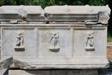 Sarcophagus in the garden of Archaeology Museum in Çanakkale