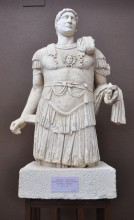 Statue of Emperor Hadrian from Troy, Roman period (the 2nd century CE), Archaeology Museum in Çanakkale