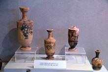 Lekythoi, a type of Ancient Greek vessel used for storing oil, the 3rd - the 5th centuries BCE - Tarsus Museum