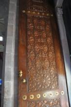 Üç Şerefeli Mosque - a wooden shutter