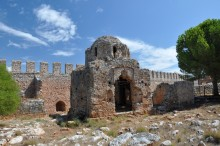 The church of St. George from the Byzantine period - Inner Fortress in Alanya