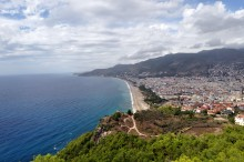 The view from the fortress in Alanya