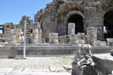 The temple of Dionysus in Side