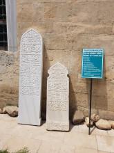 Darülhadis Mosque in Edirne - Ottoman tombstones