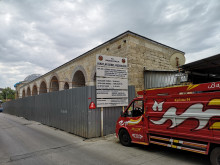 Ekmekçizade Ahmet Pasha Caravanserai in Edirne - during the renovation in June, 2019