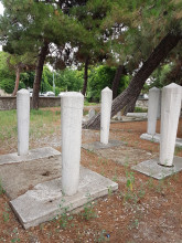 Fatma Sultan Cemetery in Edirne - various kinds of graves and gravestones