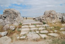 Processional way of the Grand Temple complex, Hattusa