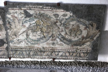 Decorative border of the mosaic