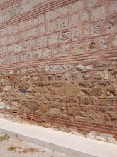 Hüdavendigâr Mosque in Edirne - the external wall with various construction phases visible