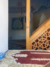 Hüdavendigâr Mosque in Edirne - the interior with the strange location of the prayer niche (mihrab)
