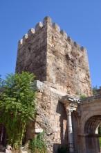 The northern tower - rebuilt during the reign of the Seljuk sultan Alaeddin Keykubat I