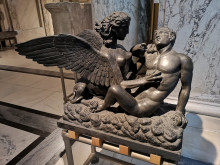 Sphinx devouring a boy