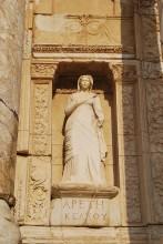 The statue of Arete (Bravery) - a modern copy