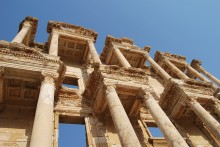 Library of Celsus in Ephesus - the reconstructed façade