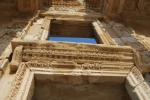 Library of Celsus - decorations in detail