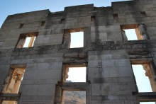 Library of Celsus - the reconstructed façade seen from the interior