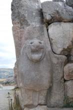 The right-side lion - the original Hittite sculpture