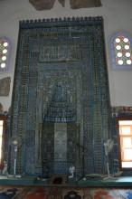 Huge mihrab of Muradiye Mosque in Edirne