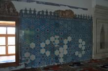 Iznik tiles in the interior of Muradiye Mosque in Edirne
