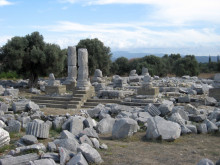 Temple of Dionysos in Teos, October 2010