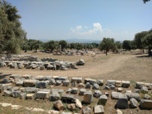 Temple of Dionysos in Teos, July 2018