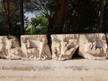 Reliefs from the Temple of Dionysos, Izmir Archaeology Museum, July 2019
