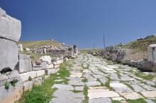 Decumanus Maximus street in Antioch of Pisidia