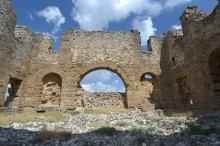 Eastern section of the basilica in Aspendos
