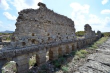 Western section of the basilica in Aspendos
