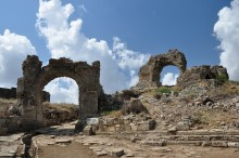 Arch on the main road in Aspendos
