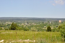 Panorama of Dioceasarea, with the Zeus temple to the left, and the high tower to the right
