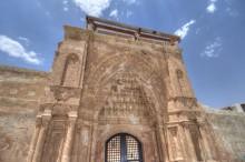 Ishak Pasha Palace - the entrance portal decorations
