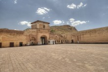 Ishak Pasha Palace - the outer courtyard and the entrance portal